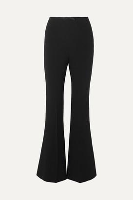 Miu Miu Silk Satin-trimmed Cady Flared Pants - Black