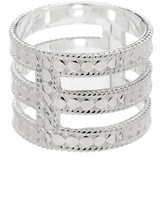 Anna Beck Sterling Silver Gili Wire Triple Bar Ring