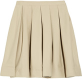 RED Valentino Pleated cotton-blend twill mini skirt