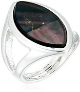 """Robert Lee Morris Shades of Grey"""" Oval Stone Cut-Out Ring, Size 7.5"""