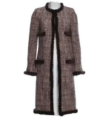 Chanel Brown Tweed Coats