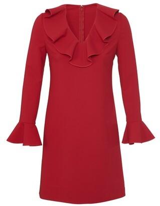 Valentino V-neck dress with ruffles