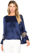 Suno Ruffle Sleeve Top in Blue. - size 0 (also in 2)