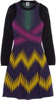 M Missoni Printed ribbed jersey mini dress