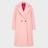 Paul Smith Women's Pink Bouclé Cocoon Coat