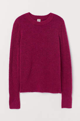 H&M Fine-knit Wool-blend Sweater - Pink