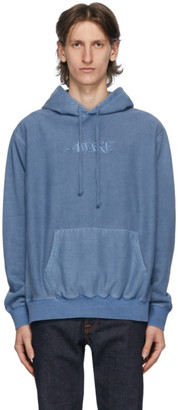 Awake NY Blue Embroidered Logo Hoodie