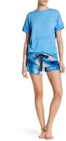 Josie Printed Lace Detail Short
