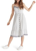 Madewell Women's Heather Embroidered Stripe Dress