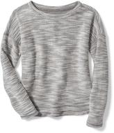 Old Navy French-Terry Hi-Lo Sweater for Girls