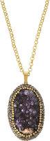Panacea Druzy Pendant Necklace, Purple