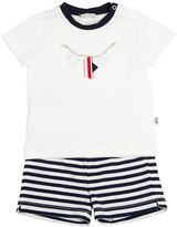 Il Gufo Cotton Jersey T-Shirt & Striped Shorts