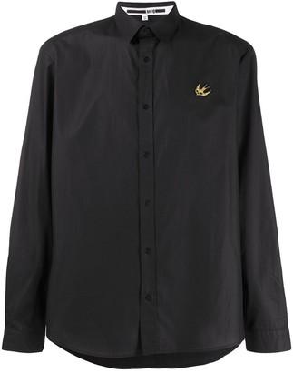 Mcq Swallow Bird Embroidered Cotton Shirt