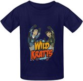 B.IDEAR Generic Vintage Photo Printed Wild Kratts T-shirts Tops for Kids Boy Girl