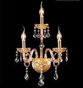 Generic Crystals 3-light Wall Sconces Color Tea and