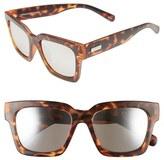 Le Specs Women's 'Weekend Riot' 55Mm Retro Sunglasses - Matte Tort/ Silver Mirror