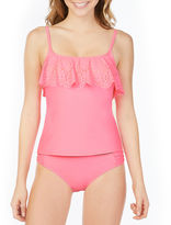 Arizona Solid Flounce Swimsuit Top-Juniors