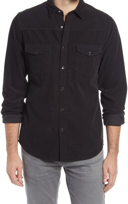 Frame Slim Fit Western Snap-Up Corduroy Shirt