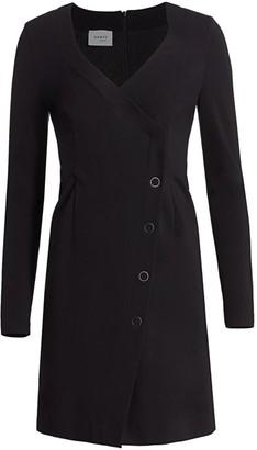Akris Punto V-Neck Ring Snap Mini Dress
