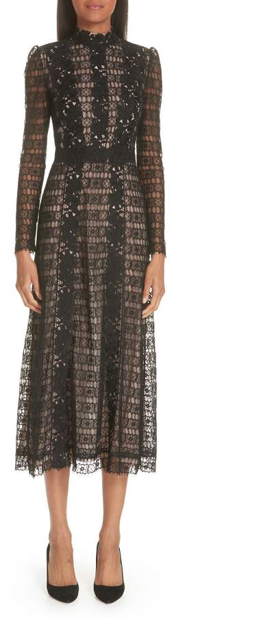 Giambattista Valli Lace Midi Cocktail Dress