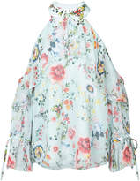 Alice + Olivia Alice+Olivia floral cold-shoulder blouse