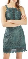 Topshop Women's Lace Detail Sleeveless A-Line Dress