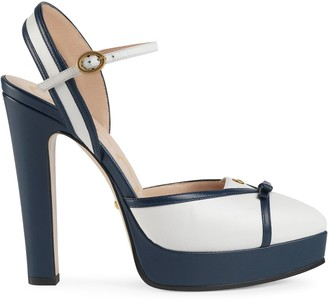 Gucci Double G chunky heel pumps