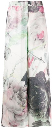 Soulland Laura rose-print trousers