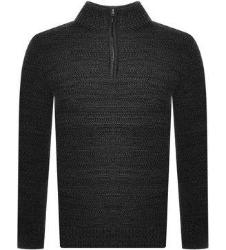 Superdry Keystone Half Zip Knit Jumper Grey