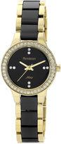 Swarovski Armitron Now Womens Crystal-Accent Ceramic Link Bracelet Watch