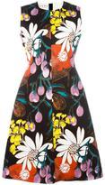 Marni Madder print dress - women - Cotton/Linen/Flax - 40
