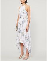 Ted Baker Daniiey Woodland-print chiffon maxi dress