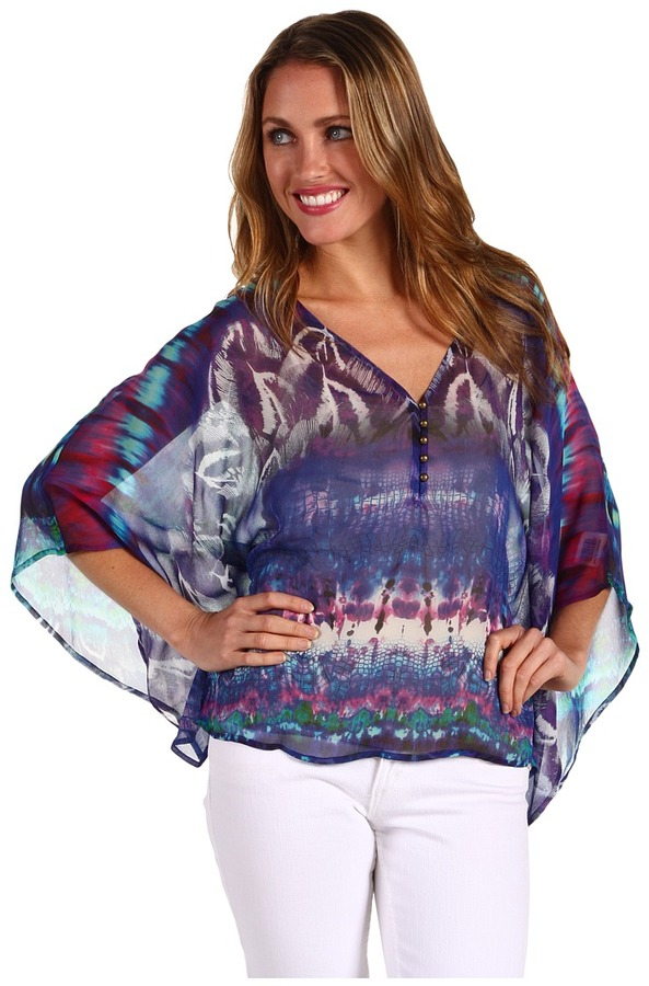 Twelfth St. By Cynthia Vincent by Cynthia Vincent - Square Caftan Top (Orbit) - Apparel