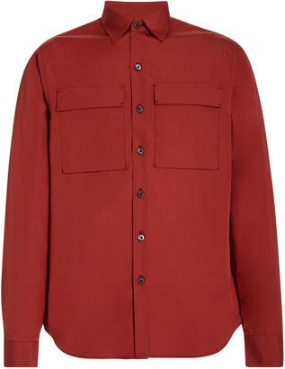Prada Pocket-Detailed Poplin Shirt