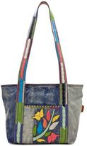 Patricia Nash Floral Embroidery Nevoso Double-Zip Tote