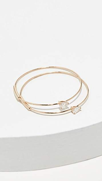 Lana 14K Solo Pear Diamond Hoops