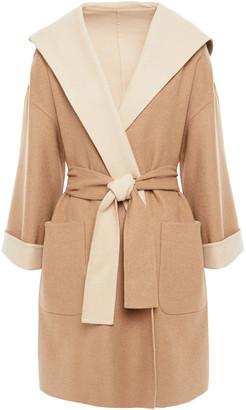 Brunello Cucinelli Belted Camel Hair-blend Felt Hooded Coat
