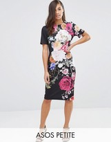 Asos New Floral Printed T-shirt Dress