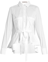 Palmer Harding PALMER//HARDING Extended waterfall-hem cotton-poplin shirt