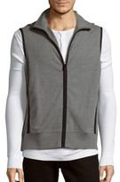 Michael Kors Sleeveless Stretch Zipper Vest