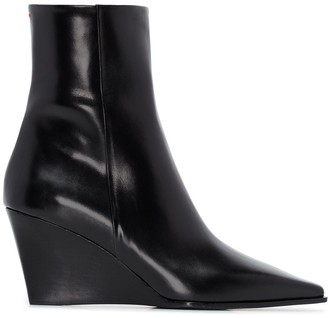 AEYDĒ Lena 40 wedge ankle boots
