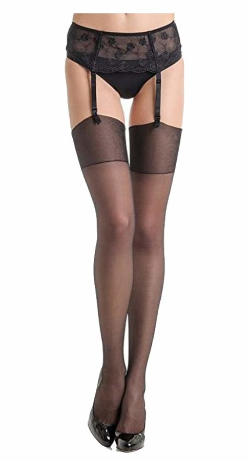 Marilyn Akte 15 Denier Stockings (L/XL - UK (12/16)) Black