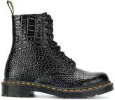 Dr. Martens croc-effect combat boots