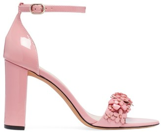 Kate Spade Paradisi Floral-Beaded Patent Leather Sandals
