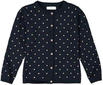 La Redoute Collections Cotton Polka Dot Cardigan, 3-12 Years