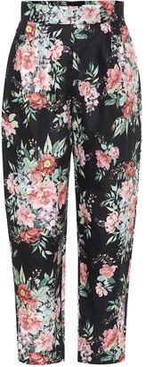 Zimmermann Bellitude floral linen cropped pants