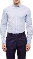 Jaeger Horizontal Weave Regular Shirt, Mid Blue