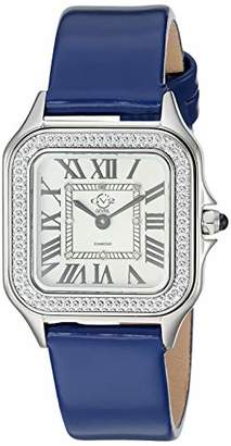 GV2 Women's Milan Stainless Steel Swiss Quartz Watch with Patent Leather Strap
