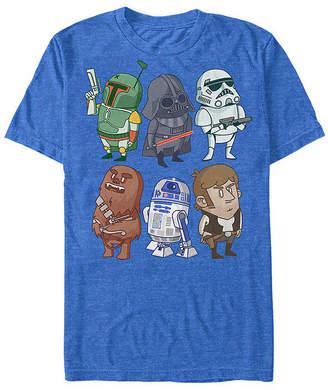 "Fifth Sun Cartoon Group Shot "" Mens Crew Neck Short Sleeve Star Wars Graphic T-Shirt"