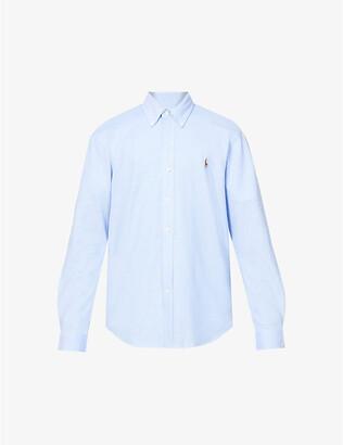 Polo Ralph Lauren Logo-embroidered slim-fit cotton-pique Oxford shirt